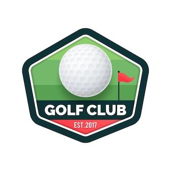 Modelo de logotipo de golfe gradiente