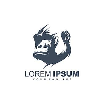 Modelo de logotipo de gorila incrível