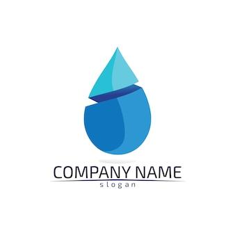 Modelo de logotipo de gota d'água