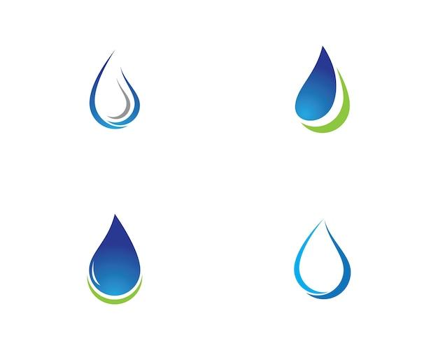 Modelo de logotipo de gota de água