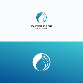 Modelo de logotipo de gotas de água