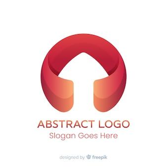 Modelo de logotipo de gradiente com forma abstrata