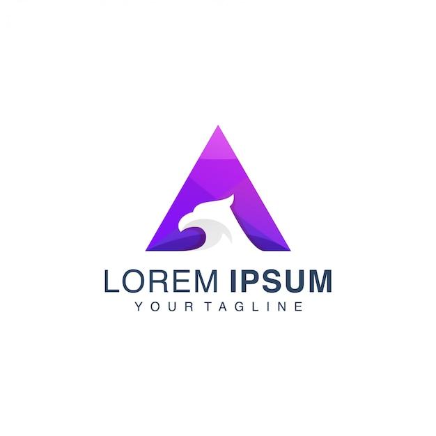 Modelo de logotipo de gradiente de águia