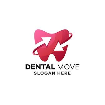 Modelo de logotipo de gradiente dentário