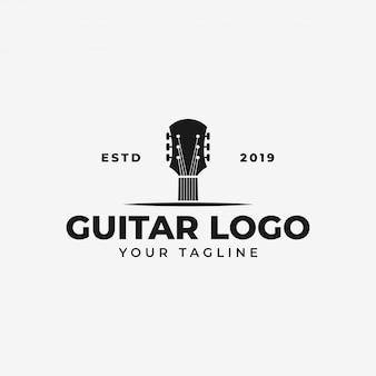 Modelo de logotipo de guitarra