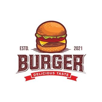 Modelo de logotipo de hambúrguer