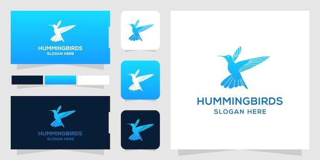 Modelo de logotipo de hummingbird