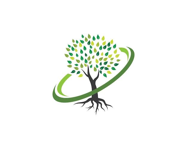Modelo de logotipo de ícone de árvore