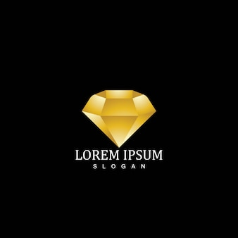 Modelo de logotipo de ícone de diamante