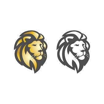 Modelo de logotipo de ícone de vetor de leão selvagem