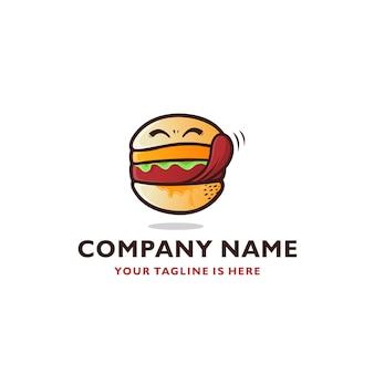 Modelo de logotipo de ícone vector de símbolos deliciosos sorrindo