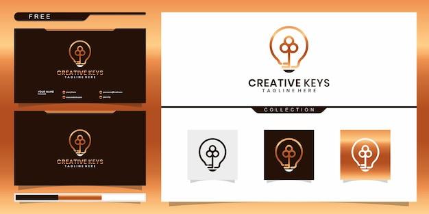 Modelo de logotipo de ideia-chave.
