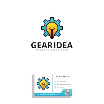 Modelo de logotipo de idéia de engrenagem