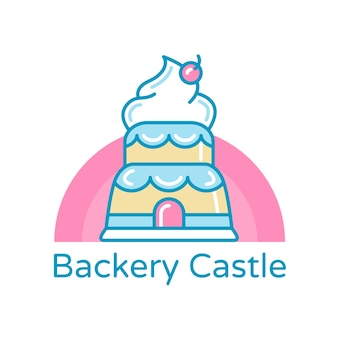Modelo de logotipo de identidade corporativa de padaria