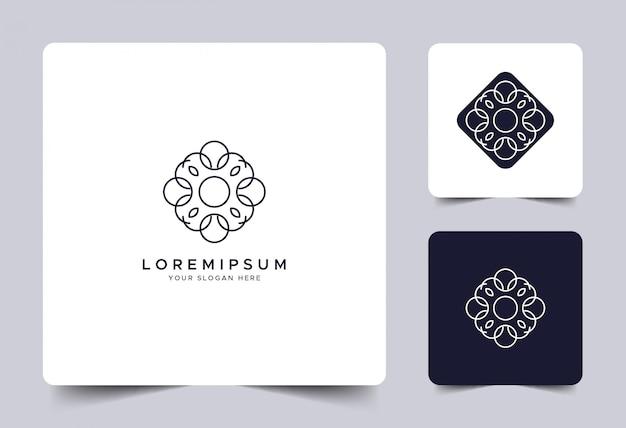Modelo de logotipo de identidade de arte linha simples