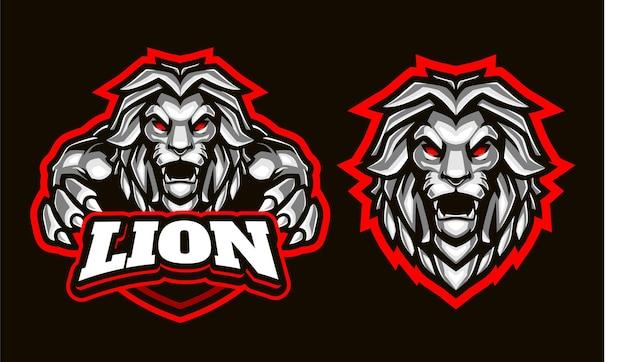 Modelo de logotipo de ilustração de leão