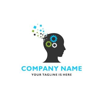 Modelo de logotipo de inspiração de cabeça humana