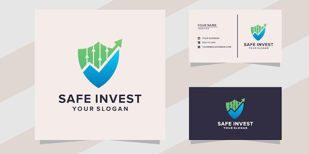 Modelo de logotipo de investimento seguro