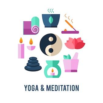 Modelo de logotipo de ioga.