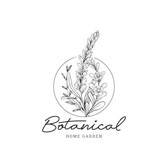 Modelo de logotipo de jardim botânico