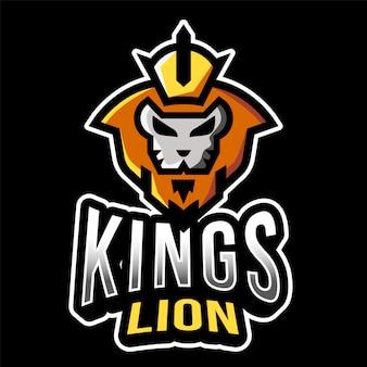 Modelo de logotipo de kings lion esport