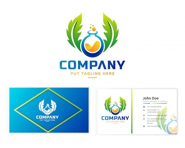 Modelo de logotipo de laboratório de ciência colorida criativa