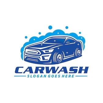 Modelo de logotipo de lavagem de carro