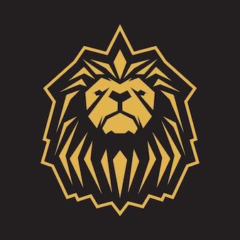 Modelo de logotipo de leão dourado