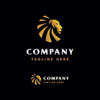 Modelo de logotipo de leão premium