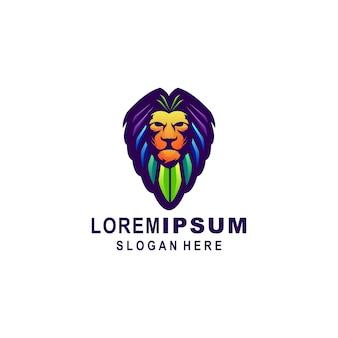 Modelo de logotipo de leão