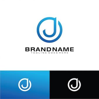 Modelo de logotipo de letra j