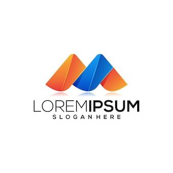 Modelo de logotipo de letra m