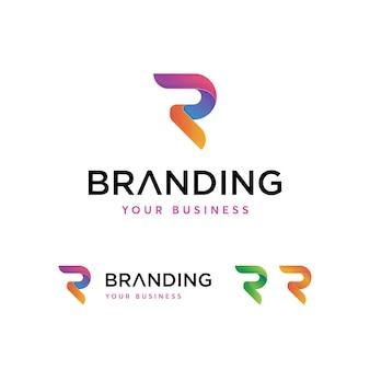 Modelo de logotipo de letra r