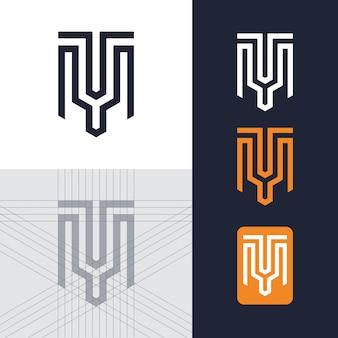 Modelo de logotipo de letra tm