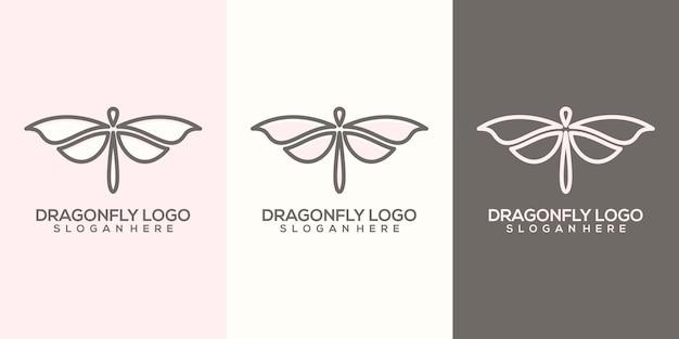 Modelo de logotipo de libélula