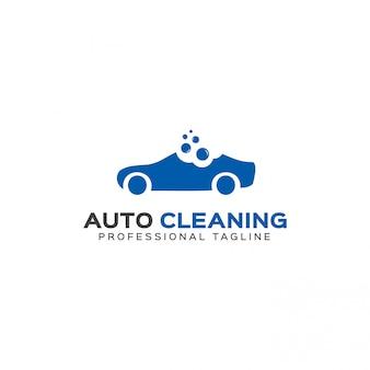 Modelo de logotipo de limpeza automática