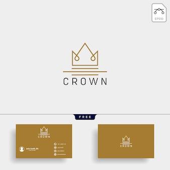 Modelo de logotipo de linha de rainha