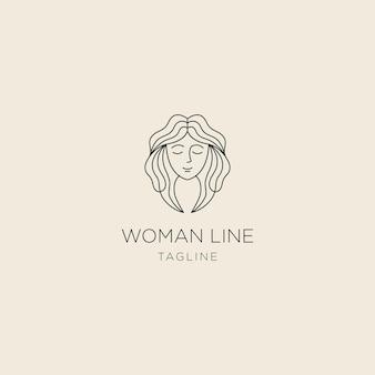 Modelo de logotipo de linha feminina