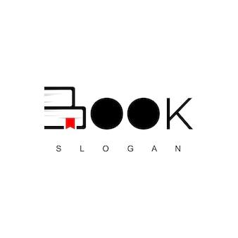 Modelo de logotipo de livro