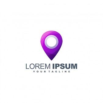 Modelo de logotipo de localização de pinos