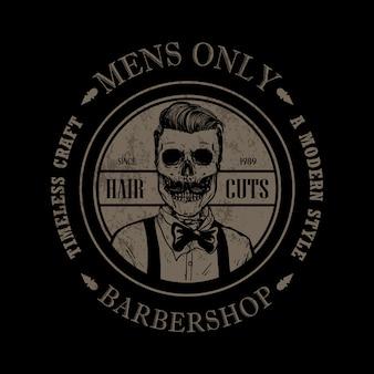 Modelo de logotipo de loja de barbeiro