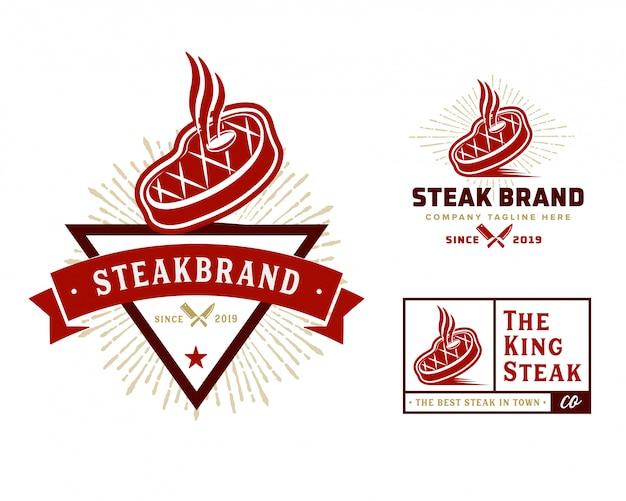 Modelo de logotipo de loja de carnes