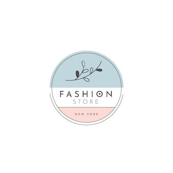 Modelo de logotipo de loja de moda