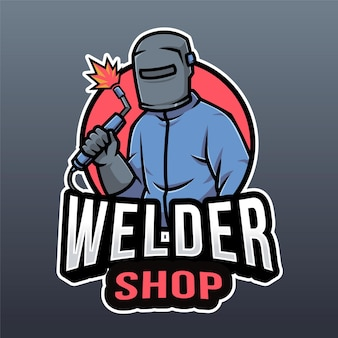 Modelo de logotipo de loja de soldador