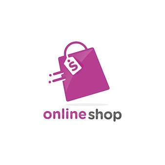 Modelo de logotipo de loja on-line