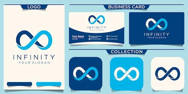 Modelo de logotipo de loop infinito.