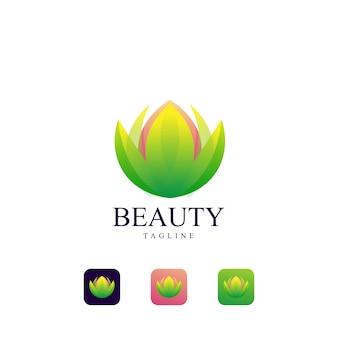Modelo de logotipo de lótus beleza