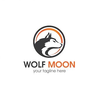 Modelo de logotipo de lua de mel