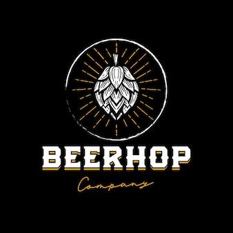 Modelo de logotipo de lúpulo de cerveja