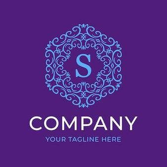 Modelo de logotipo de luxo da letra s